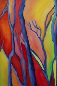 Blue Trees Dancin in the Wind