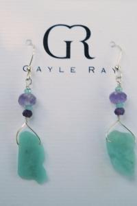 amazonite amethyst earrings